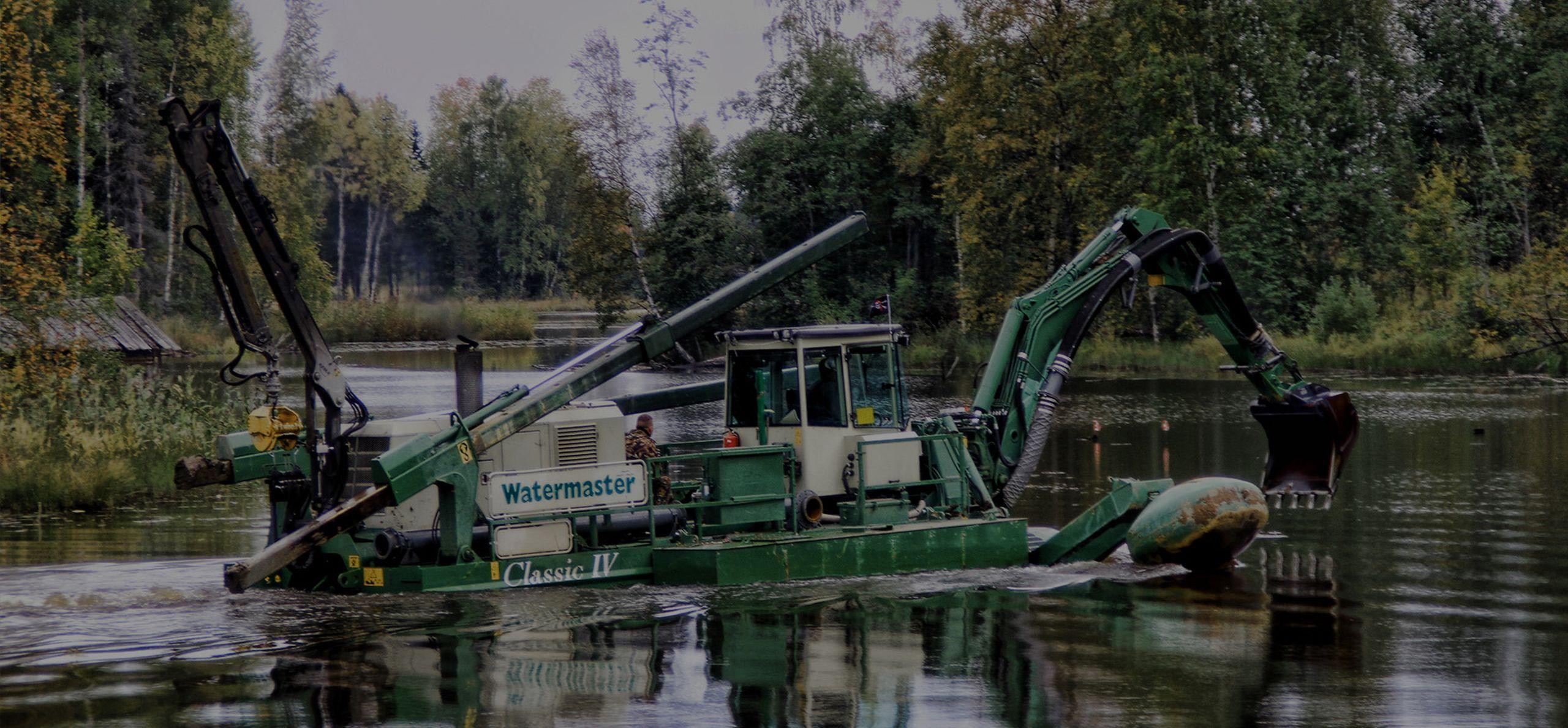 AQUAMEC WATERMASTER - čištění dna vodních toků a nádrží řek nebo při přečerpávání kalových polí
