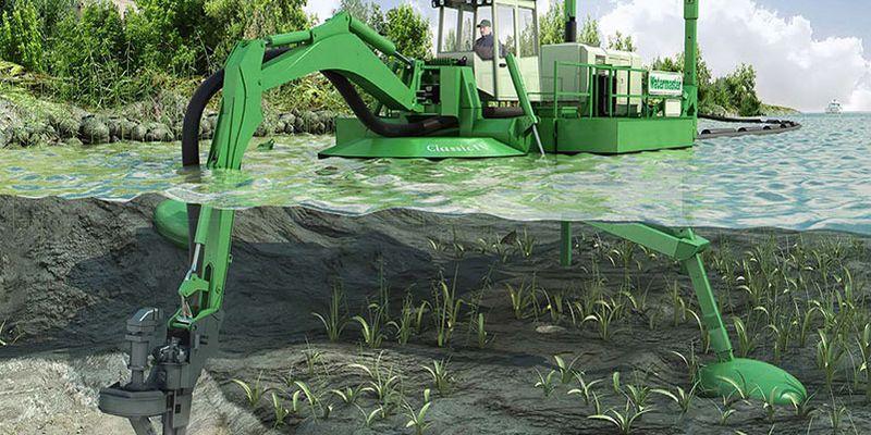 AQUAMEC WATERMASTER - čištění dna vodních toků a nádrží NORDEX EUROPE