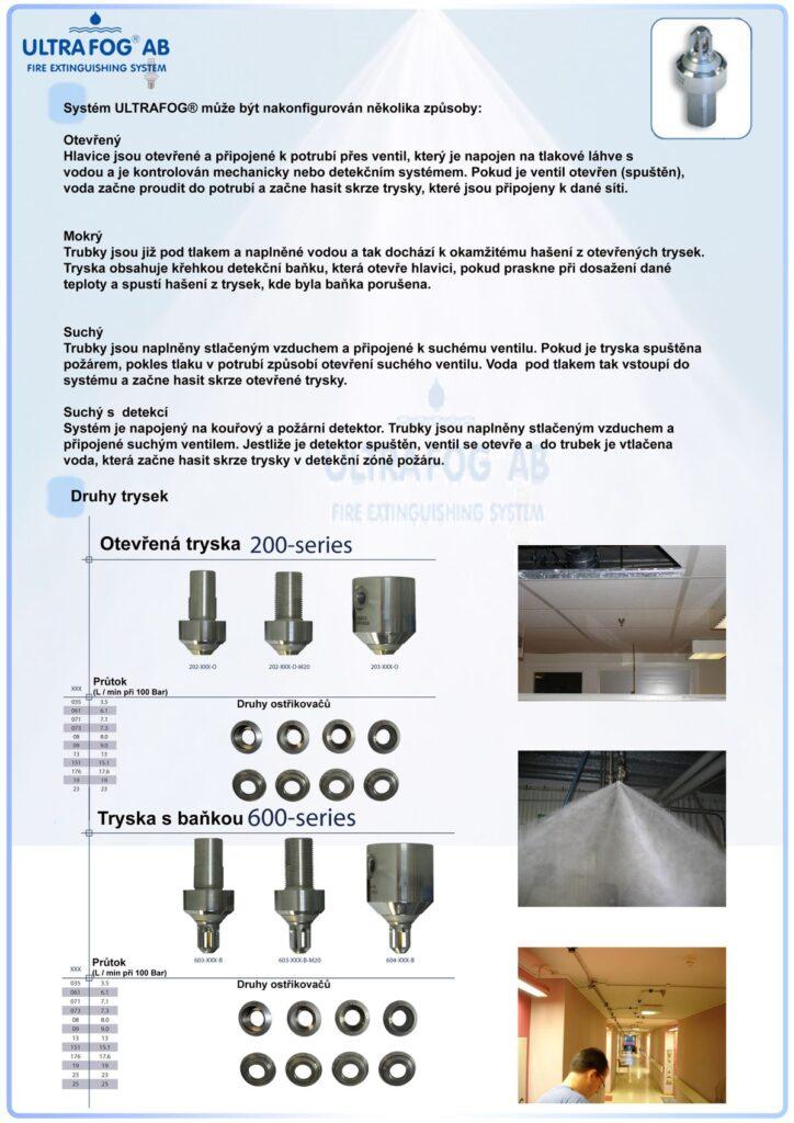 ULTRA FOG - efektivní hasební technika - využití systémů